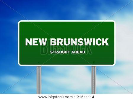 Signo de carretera de Nueva Brunswick
