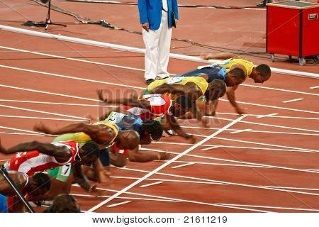 Olympics Start Of Mens 100 Meter Sprint
