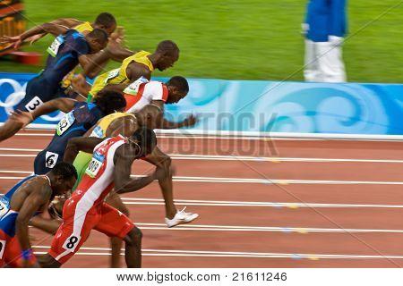 Olympia-Athleten im 100-Meter-Sprint der Männer