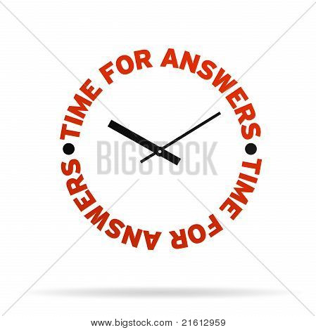 Time For Answers Clock