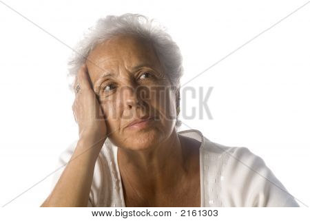Senior Woman Daydreaming