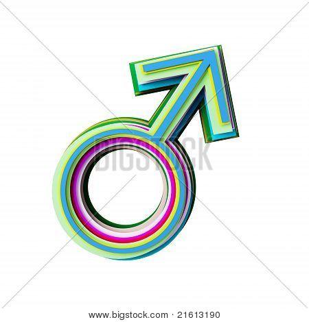 Icono de corte de papel de color