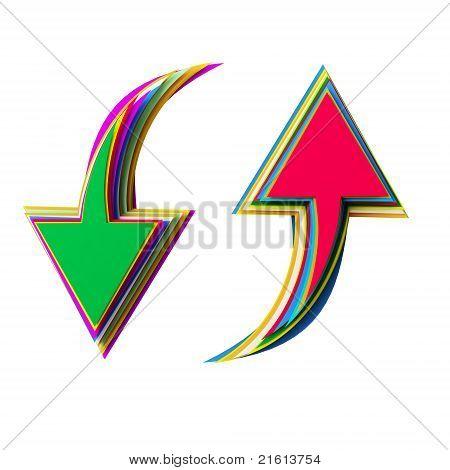 Ícone de corte de papel colorido