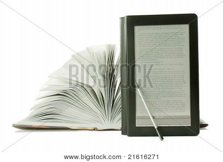 Open Book And E-book Reader