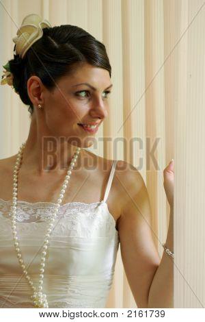 Portrait Of A Happy Bride