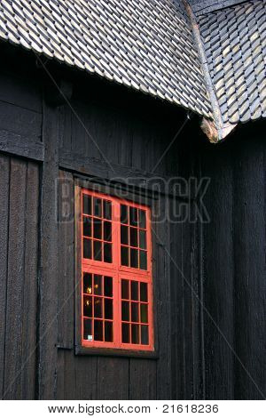 Window Of The Lom Stave Church