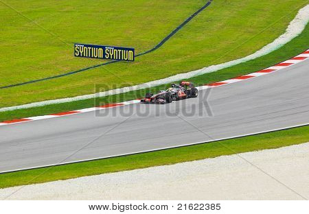 Sepang, Malaysia - April 9: Lewis Hamilton (team Mclaren Mercedes) At Qualification On Formula 1 Gp,