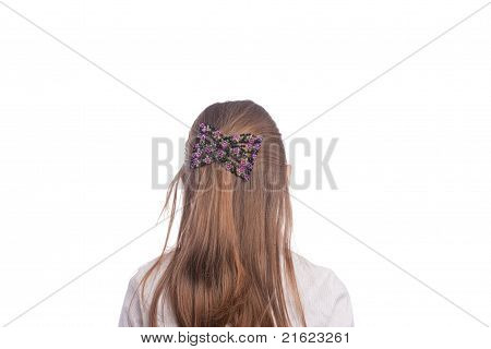 Back Of Little Caucasian Girl
