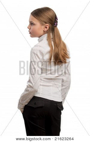 Profile Of Young Caucasian Girl