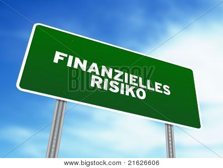 Financial Risk Highway Sign