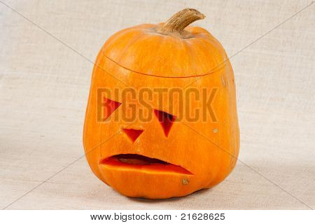 The big sad halloween pumpkin
