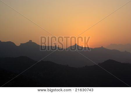 China Great Wall Sunrise