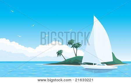 Yacht in sea