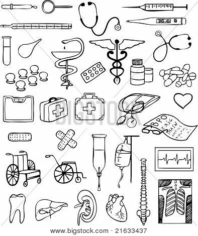 health and medical vector set