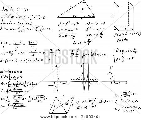 mathematics and geometry vector set