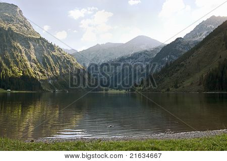 Lake In The Alps
