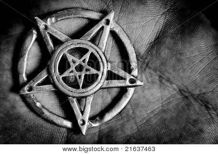 Pentagram In Hand Macro Shot