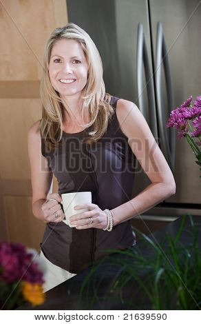 Pretty Middle-aged Woman