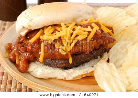 Burger Smothered In Chile