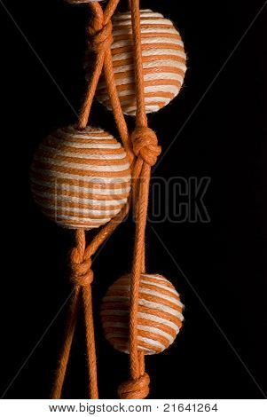 Orange striped necklace
