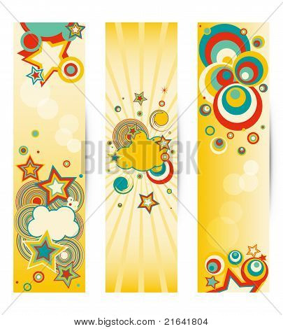 Set of colorful banners .