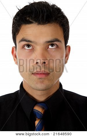Young Businessman Expression