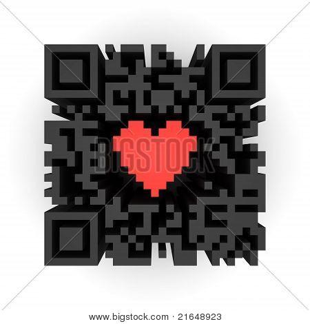 Heart In QR-code