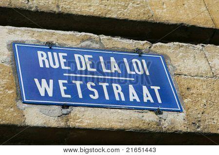 Rue De La Loi - Wetstraat