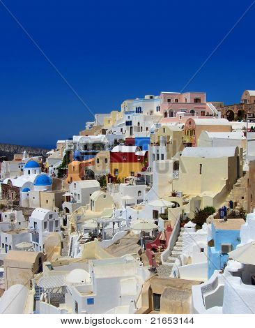 Colorful Greek Village