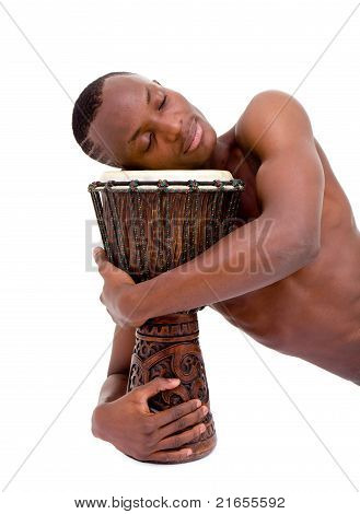 Sleeping Man With The African Drum