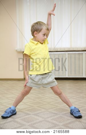 Boy Doing Exercises