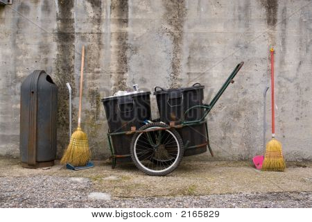 Tools Of Work Of A Street Cleaner