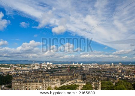 Edinburgh Under A Cloudy Sky