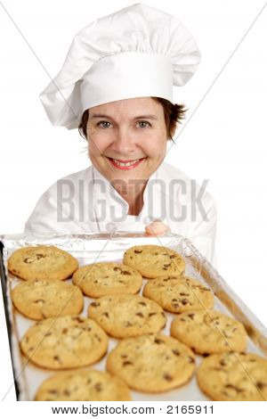 Chef Baking Cookies