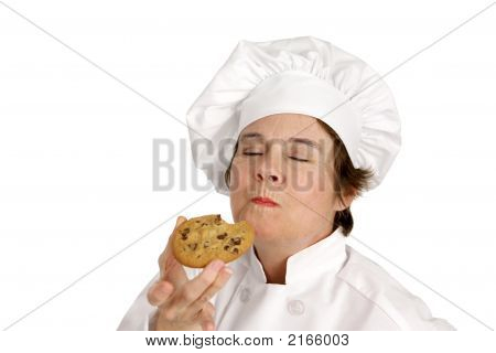Chef Savors A Cookie