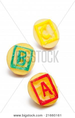 Abc Potato Stamps