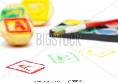 Abc Potato Stamps