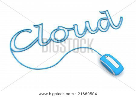 Browse The Light Blue Cloud Cableed By The Mouse Cable