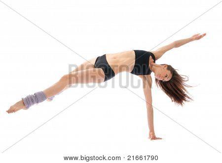 Slim Jazz Modern Contemporary Style Woman Ballet Dancer Dancing