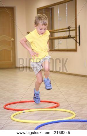 Boy Doing Exercises