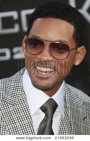 "Los Angeles jun 30: will Smith auf der Premiere von ""Hancock"" in Los Angeles, Kalifornien am 30. Juni,"