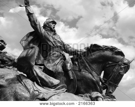 Civil War Soldier On Horse