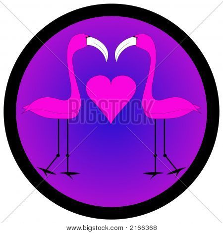 Flamingo And Heart Graphic