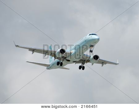 Modern Passenger Jet In Flight