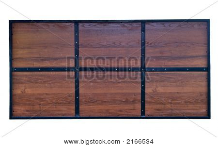 Wooden Blank Billboard With Iron Frame Of Six Sections