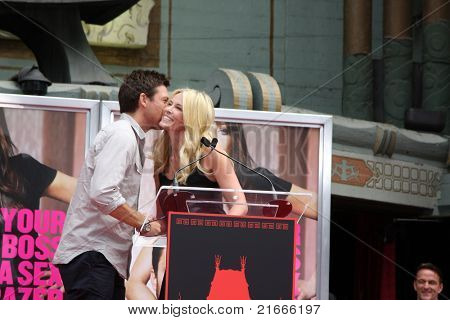 LOS ANGELES - JUL 7:  Jason Bateman, Chelsea Handler at the Jennifer Aniston Handprint & Footprint Ceremony at Grauman's Chinese on July 7, 2011 in Los Angeles, CA
