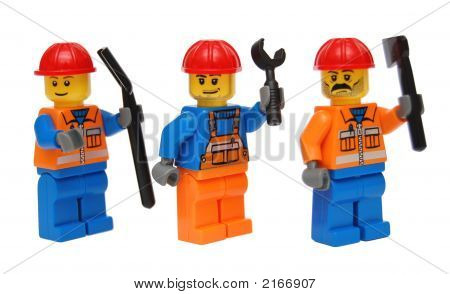 Three Blue-Collar Workers