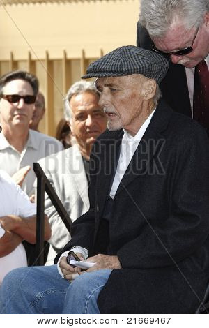 LOS ANGELES - MAR 26: Dennis Hopper at a ceremony where Dennis Hopper receives a star on the Hollywood Walk of Fame in Los Angeles, California on March 26, 2010