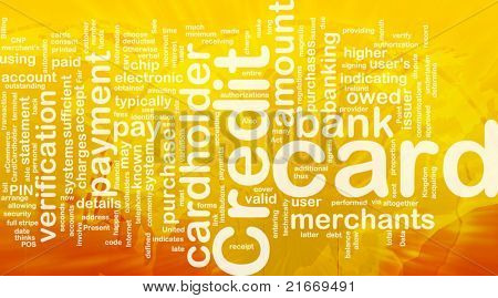 Word cloud concept illustration of credit card international