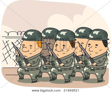 Illustration of the Armed Forces at Work